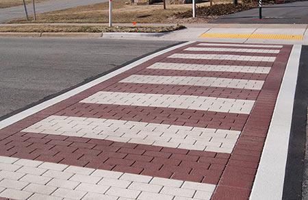 Example of Traffic Patterns-XD stamped asphalt